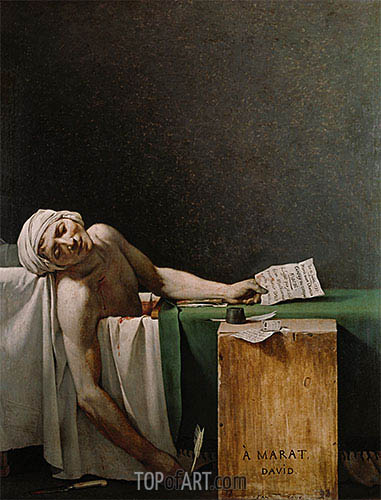 The Death of Marat, 1793 | Jacques-Louis David | Painting Reproduction
