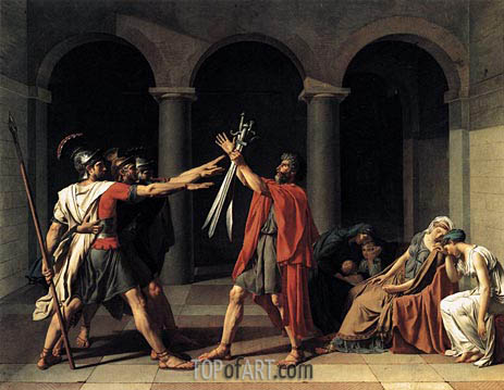 The Oath of the Horatii, 1784 | Jacques-Louis David | Gemälde Reproduktion