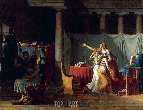 Lictors Bearing to Brutus the Bodies of his Sons, 1789 | Jacques-Louis David| Painting Reproduction