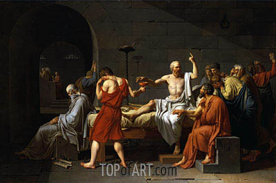 The Death of Socrates, 1787 | Jacques-Louis David| Painting Reproduction