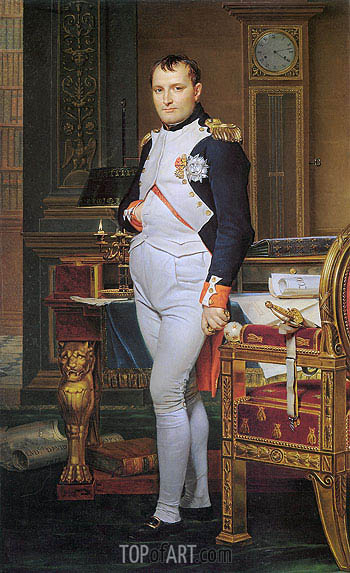 The Emperor Napoleon in His Study at the Tuileries, 1812 | Jacques-Louis David| Painting Reproduction