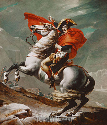 Napoleon Crossing the Saint Bernhard Pass, c.1801/02 | Jacques-Louis David | Painting Reproduction