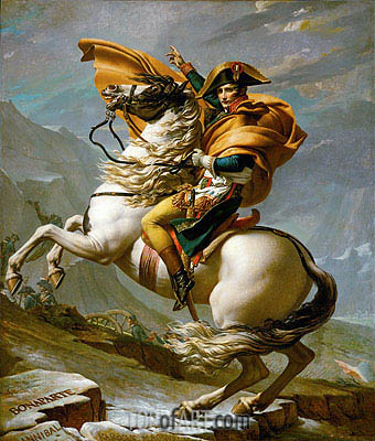 Jacques-Louis David | Napoleon Crossing the Alps at the St Bernard Pass, 20th May 1800, c.1800/01