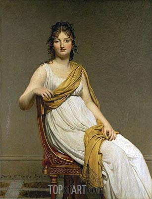 Henriette Verniac, nee Henriette Delacroix, soeur d'Eugene Delacroix, c.1798/99 | Jacques-Louis David | Painting Reproduction