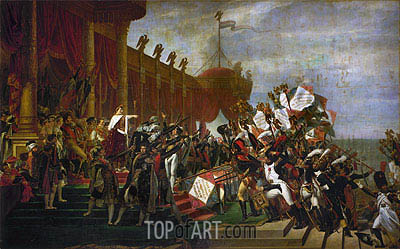 Jacques-Louis David | The Oath of the Army after the distribution of the Eagles on the Champs de Mars, December 5, 1804, 1810