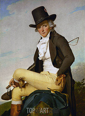 Jacques-Louis David | Portrait of Pierre Seriziat, 1795