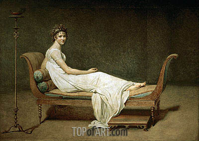 Mme Recamier nee Julie Bernard, 1800 | Jacques-Louis David| Painting Reproduction