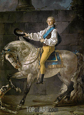 Count Stanislas Potocki, 1781 | Jacques-Louis David| Gemälde Reproduktion