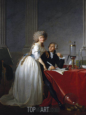 Antoine-Laurent Lavoisier and His Wife Marie-Anne-Pierrette Paulze, 1788 | Jacques-Louis David| Painting Reproduction