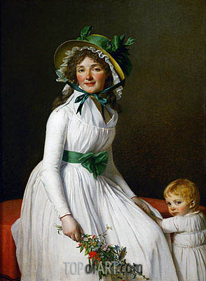 Mme. Seriziat and Her Son, 1795 | Jacques-Louis David| Painting Reproduction