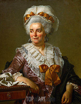 Genevieve Jacqueline Pecoul (the Painter's Mother-in-Law), 1784 | Jacques-Louis David| Painting Reproduction