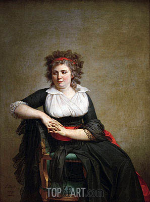 Jacques-Louis David | Robertine Tourteau, Marquise d'Orvilliers, 1790