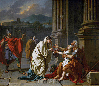 Belisarius Begging for Alms, 1784 | Jacques-Louis David | Gemälde Reproduktion