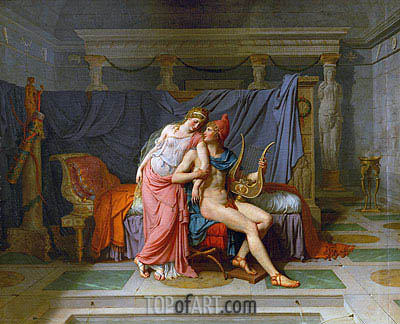 Jacques-Louis David | The Love of Paris and Helen, 1789
