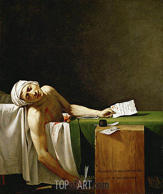 Jacques-Louis David | Assassinated Marat in His Bathtub, 1793
