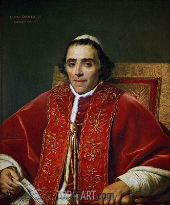 Pope Pius VII, 1805 | Jacques-Louis David | Gemälde Reproduktion