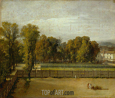 View from the Luxembourg Gardens in Paris, undated | Jacques-Louis David| Gemälde Reproduktion