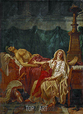 The Sorrow of Andromache, 1783 | Jacques-Louis David | Gemälde Reproduktion