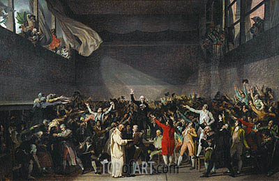 The Tennis Court Oath, 20th June 1789, 1791 | Jacques-Louis David| Painting Reproduction
