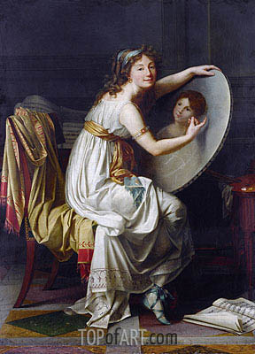 Jacques-Louis David | Portrait of Rose Adelaide Ducreux, undated