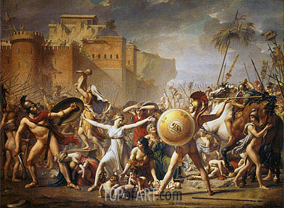 The Sabine Women, 1799 | Jacques-Louis David| Painting Reproduction