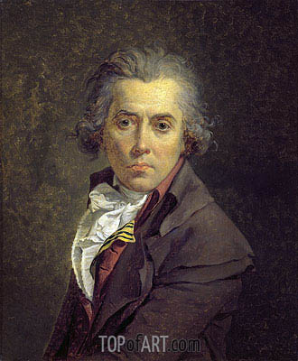 Self Portrait, 1791 | Jacques-Louis David| Painting Reproduction