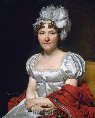Madame David, 1813 | Jacques-Louis David| Painting Reproduction