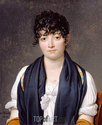 Jacques-Louis David | Portrait of Suzanne Le Peletier de Saint-Fargeau, 1804