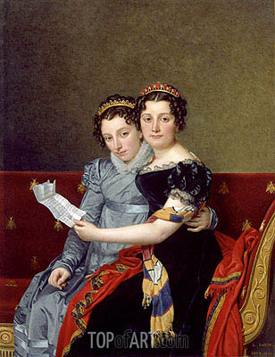 Jacques-Louis David | Portrait of the Sisters Zénaïde and Charlotte Bonaparte, 1821