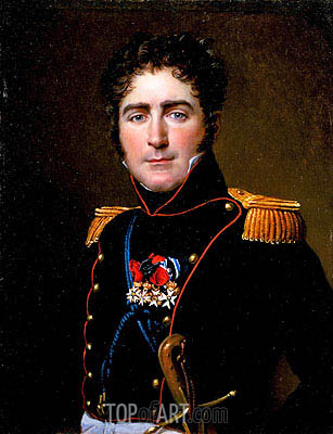 Jacques-Louis David | Portrait of Comte Henri-Amédée de Turenne, 1816