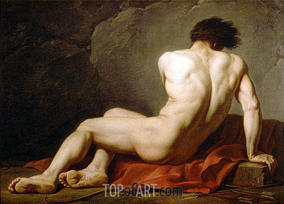 Patroclus (Academic Figure of a Man), undated | Jacques-Louis David | Painting Reproduction