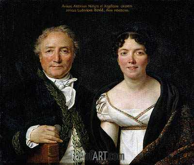 Mr. and Mrs. Antoine Mongez, 1812 | Jacques-Louis David| Gemälde Reproduktion