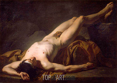 Hector (Academic Figure of a Man), undated | Jacques-Louis David| Painting Reproduction