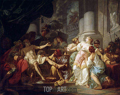 The Death of Seneca, undated | Jacques-Louis David | Painting Reproduction