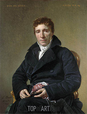 Jacques-Louis David | Emmanuel Joseph Sieyès, 1817