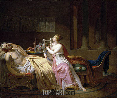 Homer and Calliope, 1812 | Jacques-Louis David | Painting Reproduction