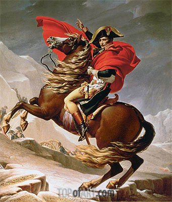 Napoleon Crossing the Alps, c.1800 | Jacques-Louis David| Painting Reproduction