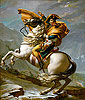 Napoleon Crossing the Alps at the St Bernard Pass, 20th May 1800 | Jacques-Louis David