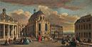 Blick vom Innenhof auf die Kapelle des Schlosses von Versailles, c.1725 | Jacques Rigaud