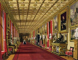 South Corridor, Windsor Castle, 1838 by James Baker Pyne | Painting Reproduction