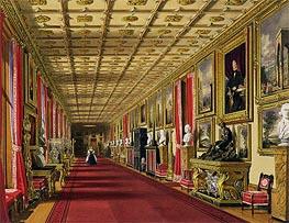 South Corridor, Windsor Castle, 1838 von James Baker Pyne | Gemälde-Reproduktion