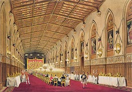 St George's Hall, Windsor Castle, 1838 by James Baker Pyne | Painting Reproduction