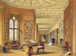 The Library, Windsor Castle, 1838 von James Baker Pyne | Gemälde-Reproduktion
