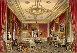 The Queen's Private Sitting Room, Windsor Castle, 1838 von James Baker Pyne | Gemälde-Reproduktion
