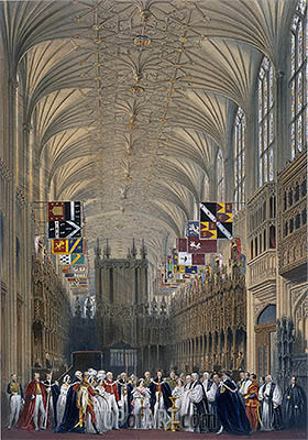 James Baker Pyne   Interior of St George's Chapel, 1838