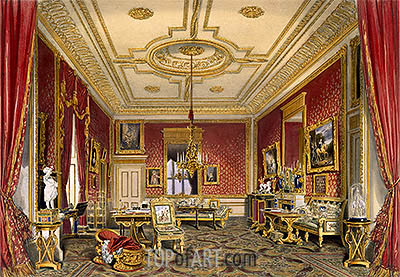James Baker Pyne | The Queen's Private Sitting Room, Windsor Castle, 1838