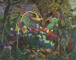 The Tangled Garden, 1916 von James Edward Hervey Macdonald | Gemälde-Reproduktion