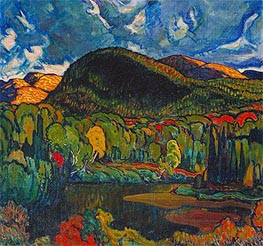 Gleams on the Hills, 1921 by James Edward Hervey Macdonald | Painting Reproduction