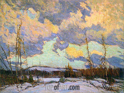 March Evening, Northland, 1914 | James Edward Hervey Macdonald | Gemälde Reproduktion