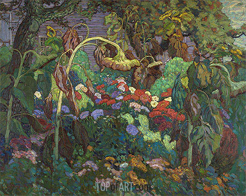 The Tangled Garden, 1916 | James Edward Hervey Macdonald| Painting Reproduction